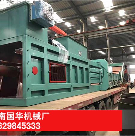 160型废纸打包机发往河南信阳-河南国正机械